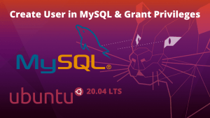 Create user in mysql in ubuntu 20.04 lts
