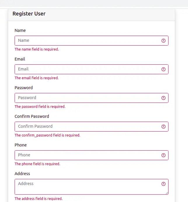 Form Validation Result