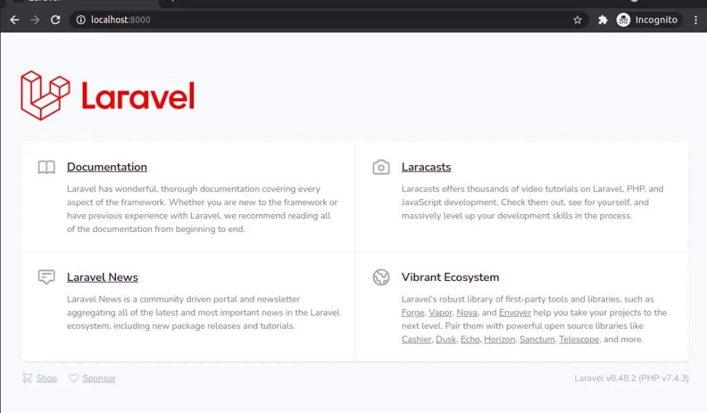 Laravel 8 Homepage