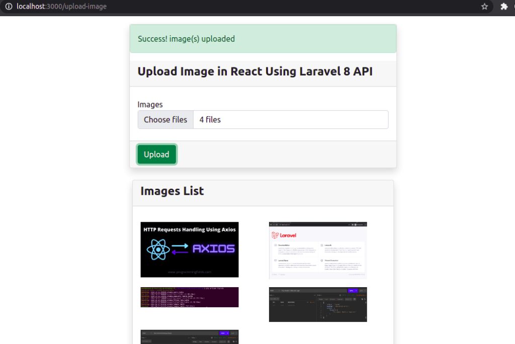 Multiple Images Uploaded in React JS
