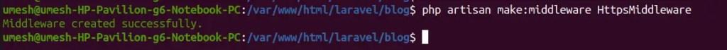 Create Middleware in Laravel