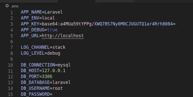 Laravel .env File