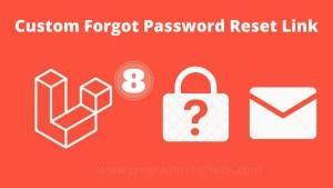 Custom Password Reset Link in laravel 8