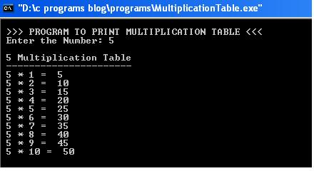 C-Program-Multiplication-Table-output