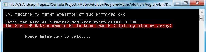 Matrix Addition Output_3