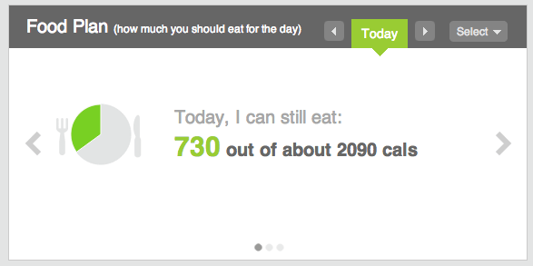 Fitbit food plan calories