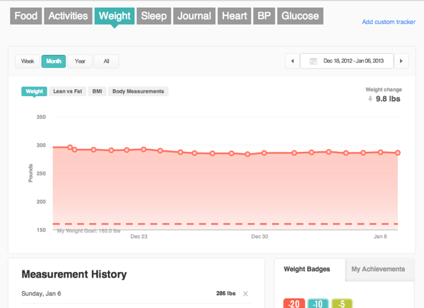 Fitbit log weight