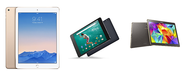 iPad Air 2 vs Nexus 9 vs Samsung Galaxy Tab S