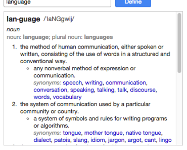 Language Definition