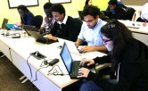 A team hard at work during our training hackaton.