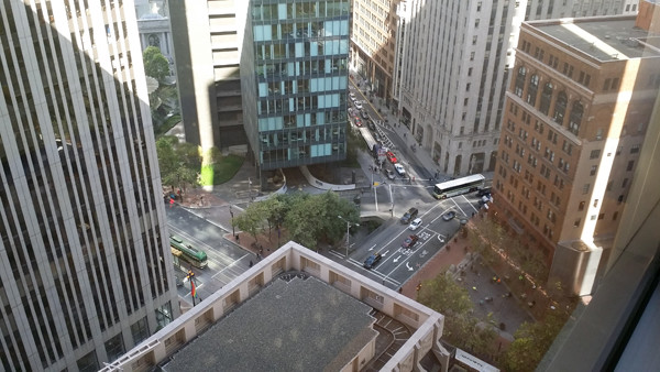 One of the many beautiful views from our office at 425 Market St in San Francisco.