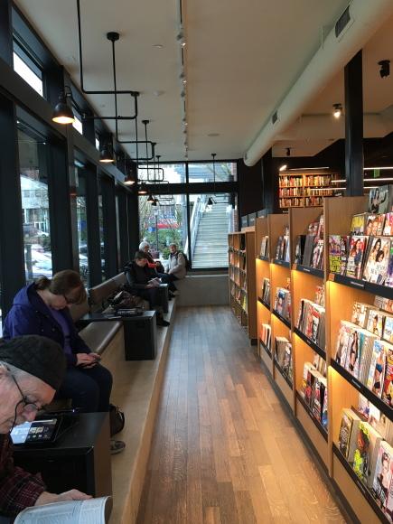 Amazon Books benches