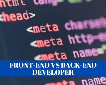 Front-End vs Back-End Developer