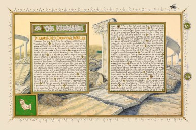 """American Qur'an: Sura 22A"", 2011, ink, acrylic and gouache on paper, 16"" x 24"""