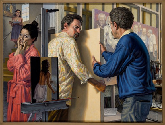 """Studio Drama"", 2012, oil on canvas, 33"" x 44"""