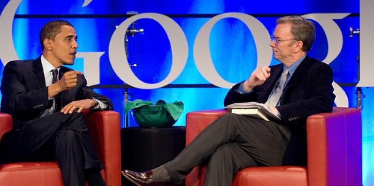 Eric Schmidt y Barack Obama.
