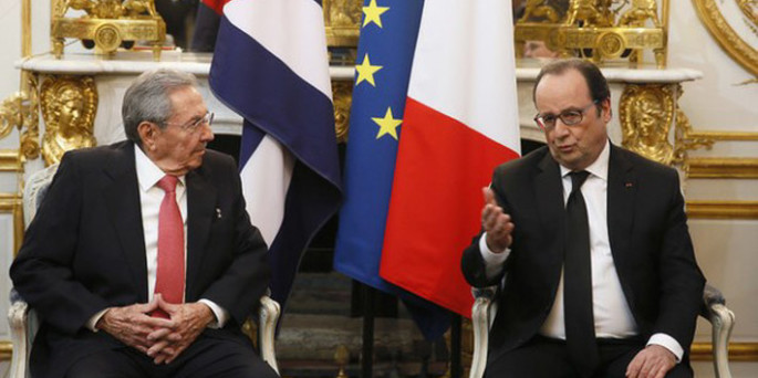 Hollande pide a Obama cese total del embargo a Cuba