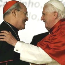 Cardinal Jaime Ortega and Pope Benedict XVI in 2007.