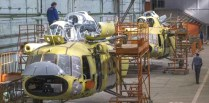 Helicopters being manufactured at the factory in Kazan.