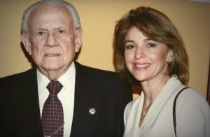 Aguirre Ferré shown here in photo with her father, Horacio Aguirre.