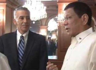 Goldberg with President Duterte.
