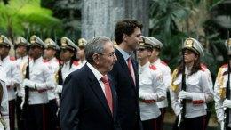 Justin Trudeau visiting Havana in mid-November 2016.