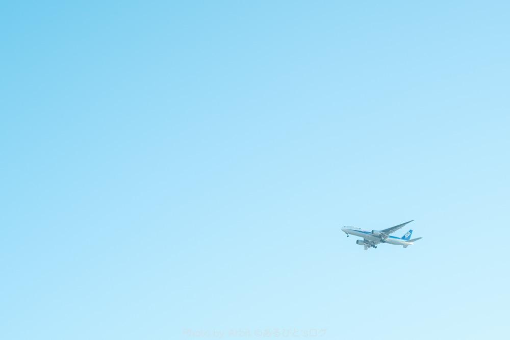 空を飛んでいる飛行機