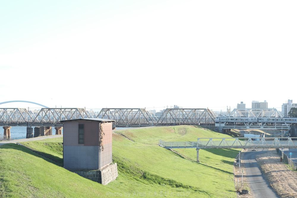淀川大橋からの風景をエテルナ で撮影