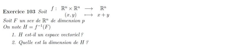 Espace vectoriel, application linéaire