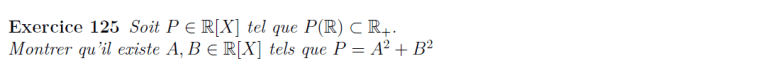 polynôme comme somme de carrés