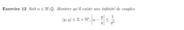 Théorème de Liouville suite