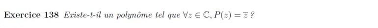 Polynômes et conjuguée