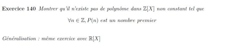 P(n) est un nombre premier