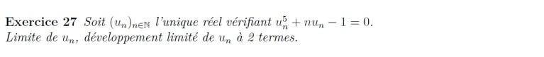 Suite définie par équation