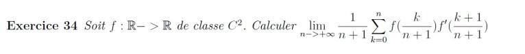 Somme de Riemann et dérivée