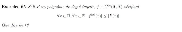 Séries entières et polynômes