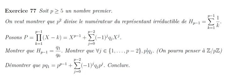 Arithmétique et somme