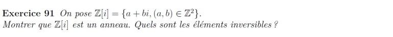 anneaux Z[i]
