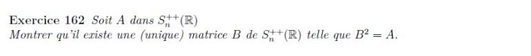 Racine de matrice symétrique définie positive