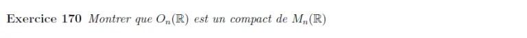 Calcul de compact