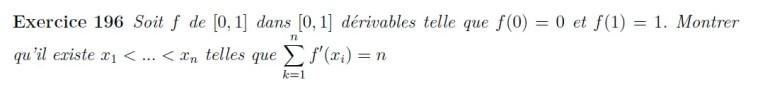 Théorème de Rolle application