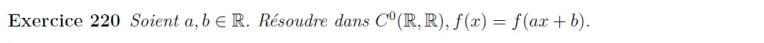 Equation fonctionnelle affine