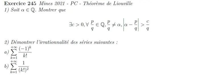 Théorème de Liouville