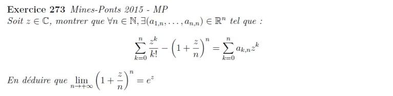Suite de fonctions exponentielle