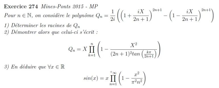 Polynôme et produit de séries