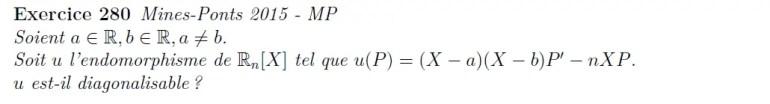 Diagonalisabilité endomorphisme polynômes