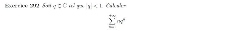 Série géométrique dérivée