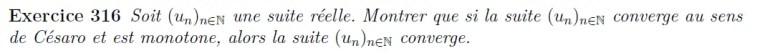 Monotonie et Césaro