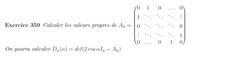 Calcul de valeurs propres