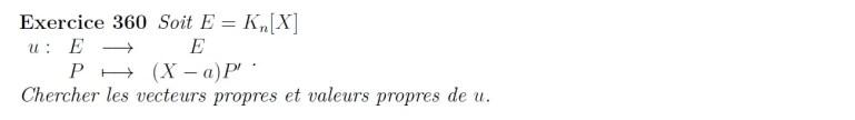 Calcul de valeurs propres et vecteurs propres